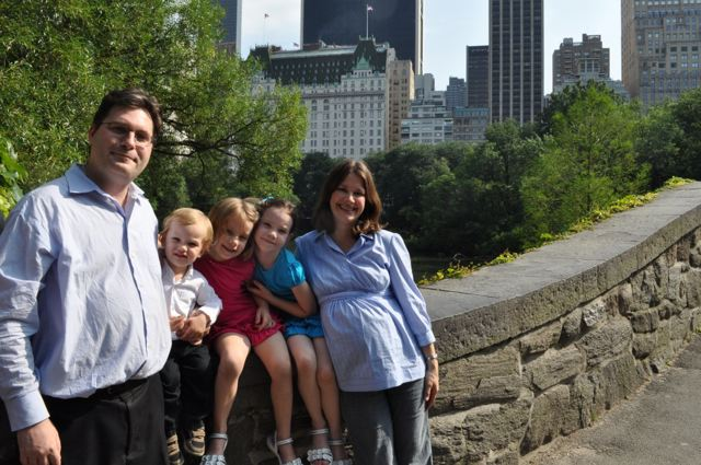 Amy Suardi and family in Central Park