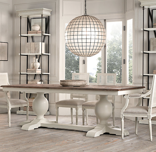 Restoration Hardware does a great job of mixing contemporary and classic styles.  Photo: RestorationHardware.com