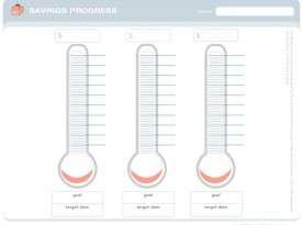 Savings Progress Thermometer Chart · FrugalMamaSavingsProgressPieChart  Progress Chart For Kids
