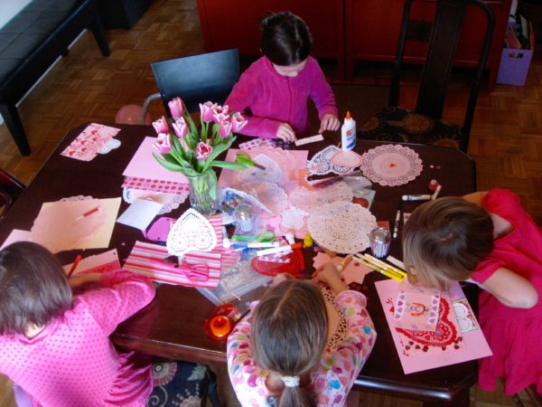 Valentine Theme Sleepover Birthday Party