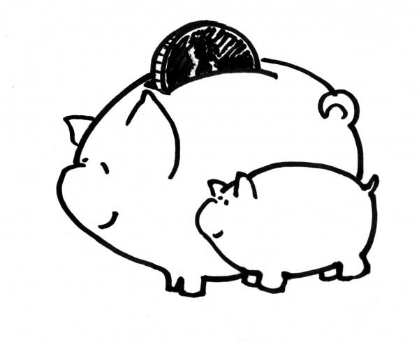 A sketch of the original Frugal Mama logo