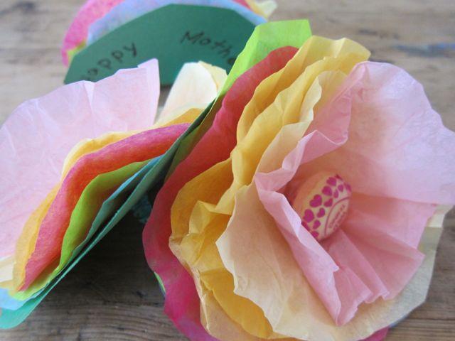 How to make lollipop tissue paper flowers mightylinksfo