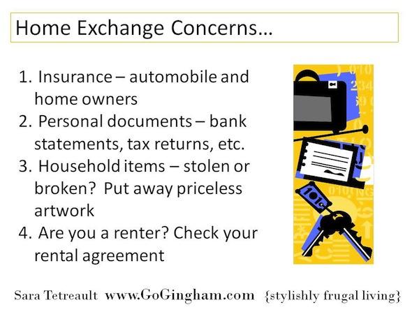 Home exchange concerns