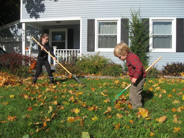 Are Chores Soothing for Kids?  One aspect in particular helps ground children.