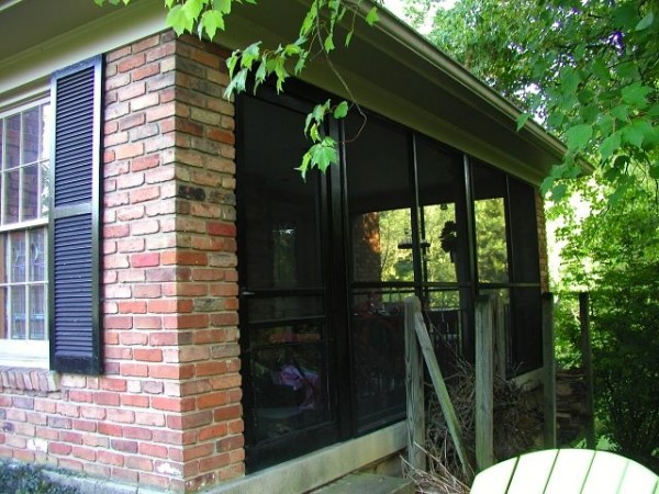 Screened-in-porch before being enclosed
