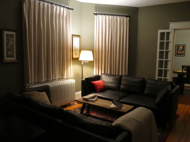 Living Room Night creating a feeling of steady calm in your home