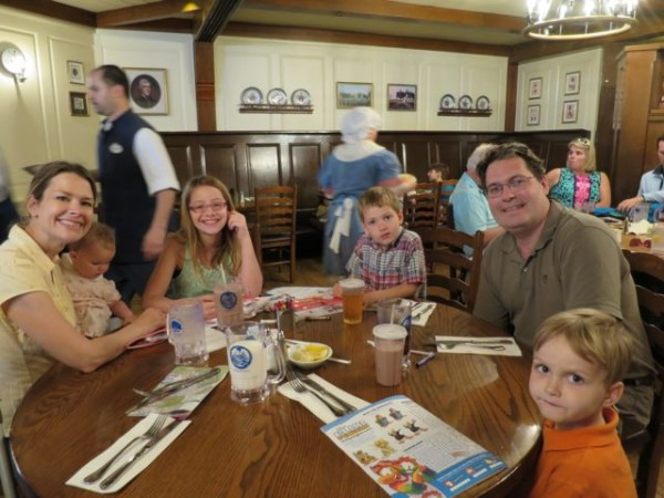 Tip No. 9 for DisneyWorld with Young Kids:  Reserve Table Seating Online
