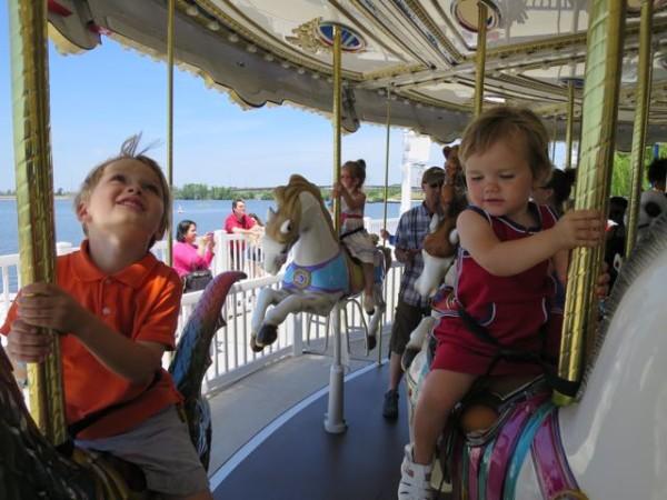 The carousel at National Harbor near Washington, D.C.